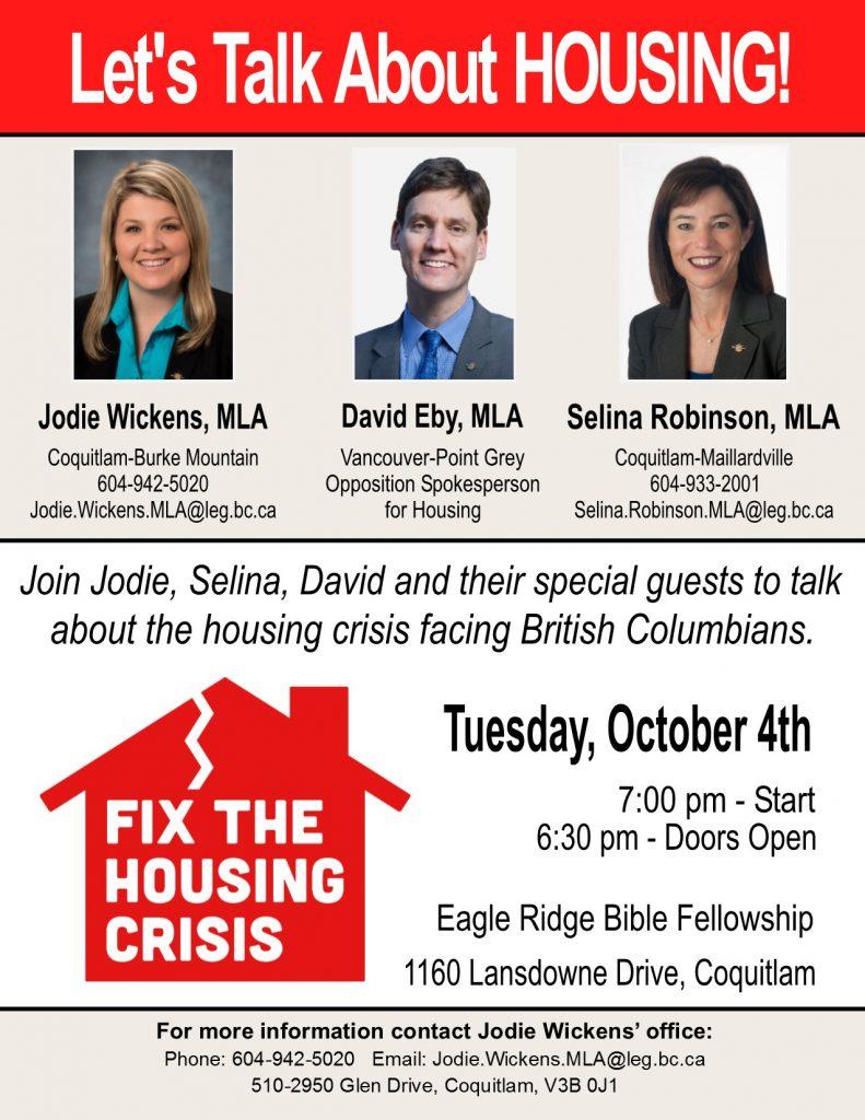 Let's Talk About Housing! @ Eagle Ridge Bible Fellowship | Coquitlam | British Columbia | Canada